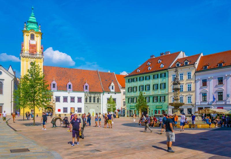 Bratislava from Vienna with coffe & cake local bratislava guide main square
