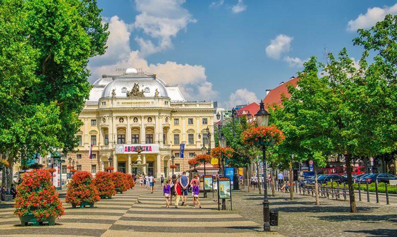Bratislava Theathre during Bratislava Classical Walking Tour