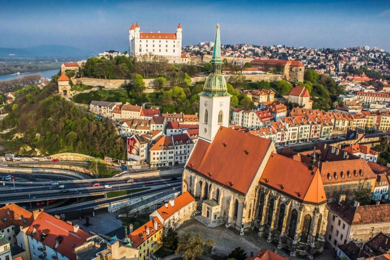 Bratislava day trip from Vienna, castle and St. Martin`s cathedral