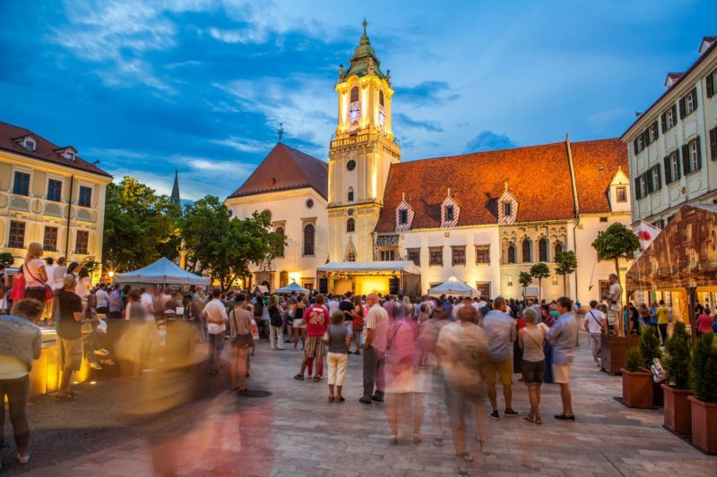 Bratislava by Night, Main Square night Bratislava