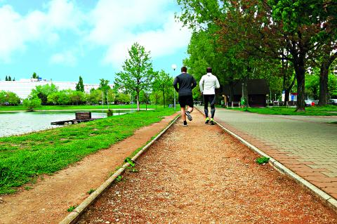 Running in Bratislava, strkovec lake
