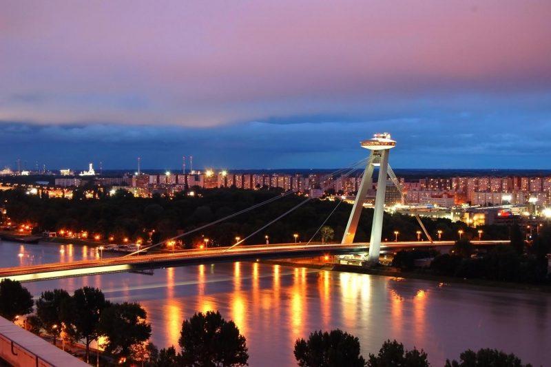 Bratislava by night from Vienna