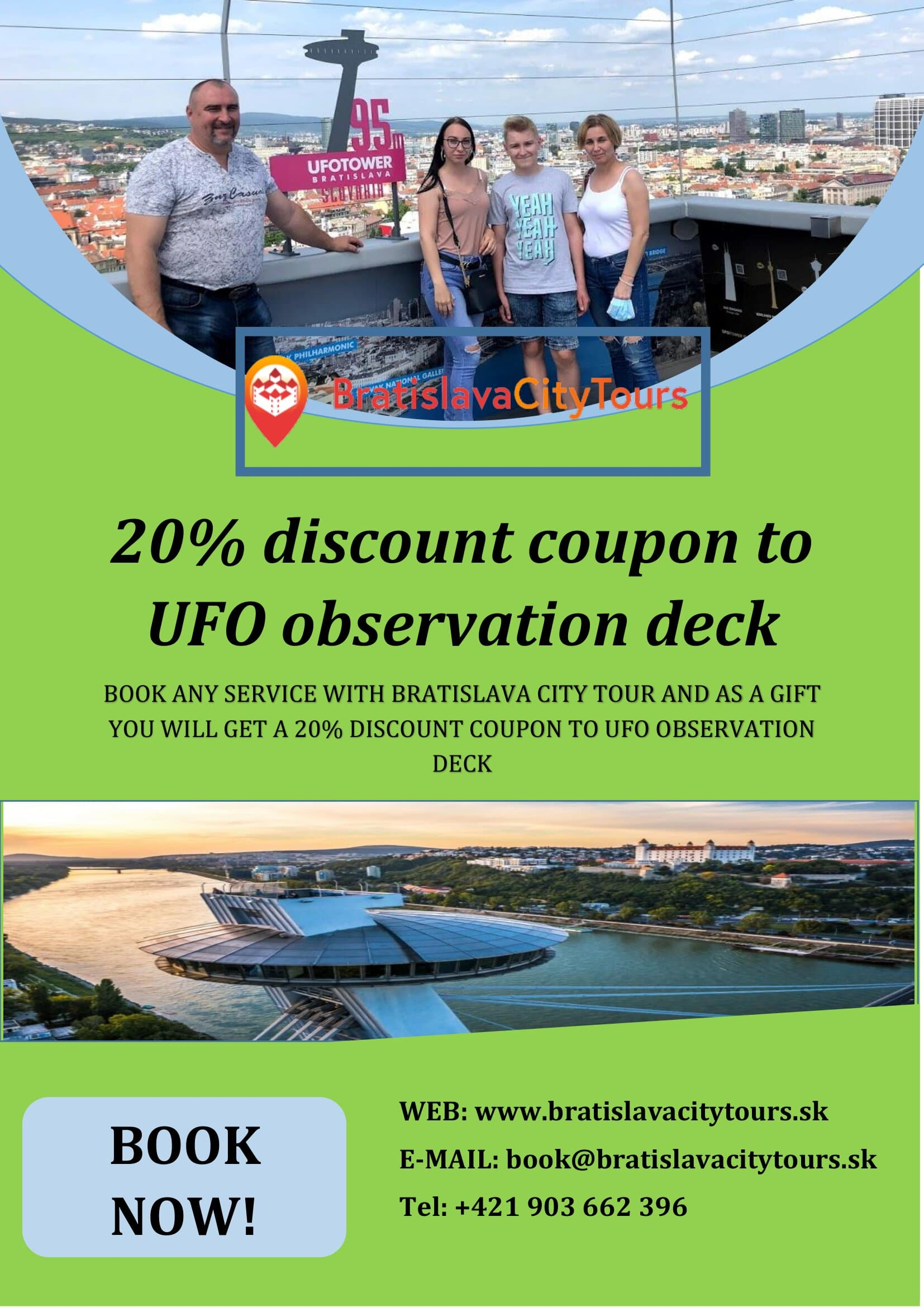 20% discount on entrance to UFO observation deck
